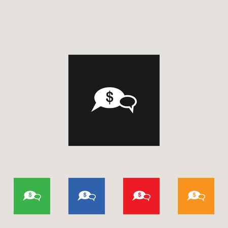 Dollar chat icon, stock vector illustration, EPS10.