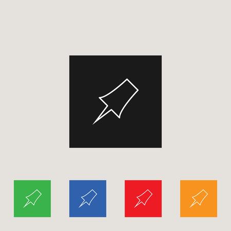 Pinpoint icon, stock vector illustration Illusztráció