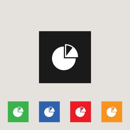 Piechart  icon, stock vector illustration 向量圖像