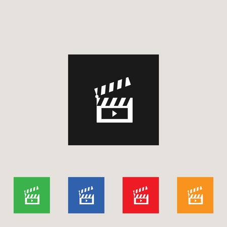 Clapboard icon, stock vector illustration