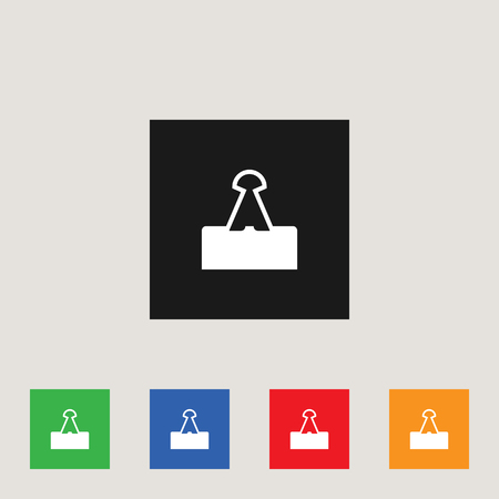Paperclip icon, stock vector illustration Illustration