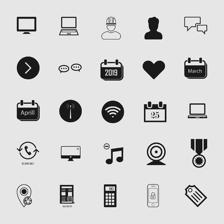 Vector illustration of standard and universal social media and network icon set