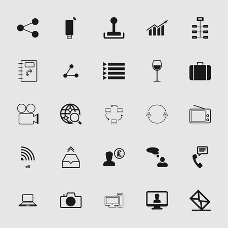 Set of standard and universal communication icons