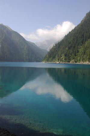 long lake: Long Lake, China, with reflection