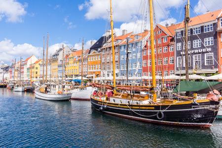 copenhagen: Colourful Copenhagen Canal Editorial