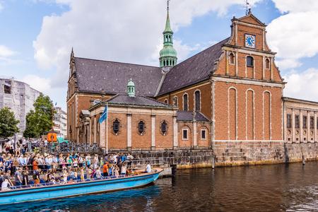 Canal tours, Holmens church, copenhagen, denmark,