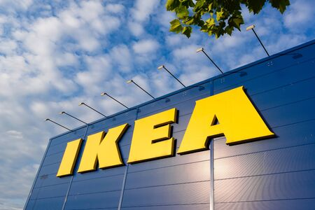 IKEA building with logo