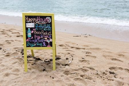 koh samui: April 2016 Koh Samui. Sign on the beach