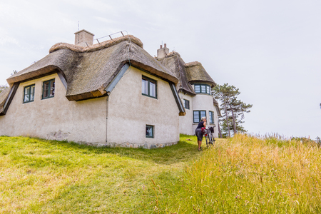 The residence of the polar explorer Knud Rasmussen, now a museum. He lived here between his expeditions, Hundestad, Denmark, July 10, 2017 Editorial