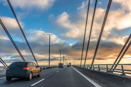 Traffic on the bridge between Sweden and Denmark, December 17, 2017 Editorial