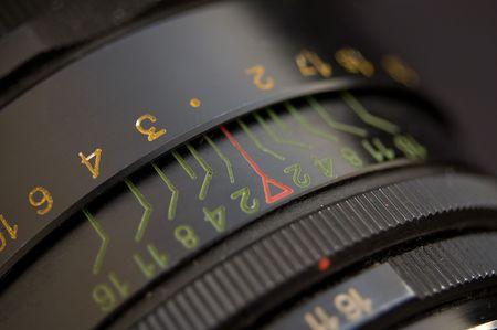 detail of an old slr lens Stock Photo - 5934512