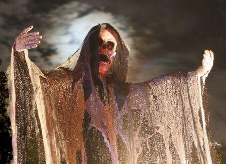 Halloween Goblin with a full moon Banco de Imagens