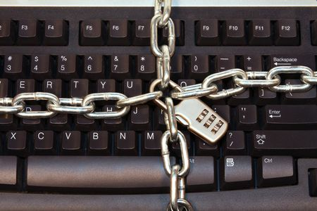 Computer Keyboard Secutity - Keep Your Computer Safe Stock Photo - 1954159