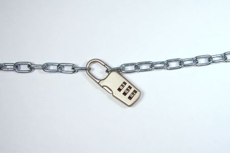 unauthorized: Lock and Chain - Security Stock Photo
