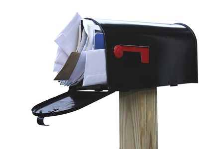 got: Youve got way too much mail and too many bills and spam Stock Photo