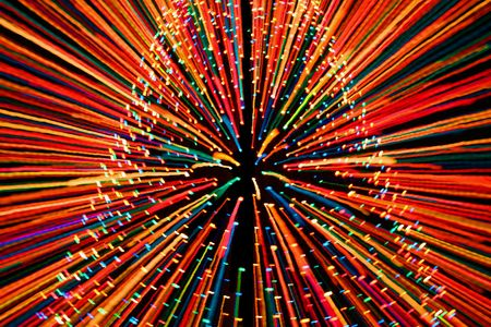 zooming: Christmas Tree lights zooming in Stock Photo