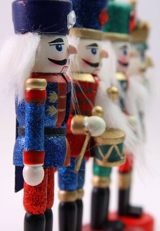 christmas military: Wooden Toy Nutcracker Soldiers
