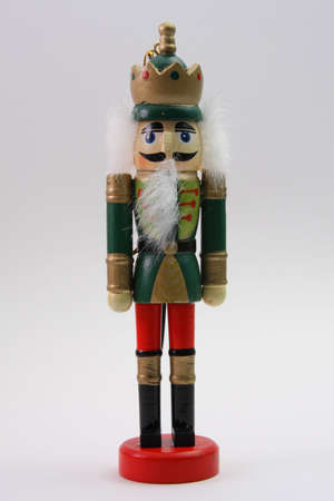 toy soldier: Wooden Toy Nutcracker Soldier Stock Photo