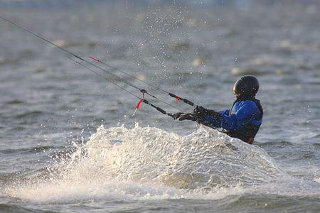 Kite Boarding in the Atlantic Ocean