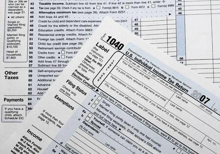 podatnika: IRS Wróć Formularze podatkowe Zdjęcie Seryjne
