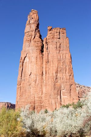 Spider Rock rises 800 feet in Canyon de Chelly on the Navajo Reservation in Arizona photo