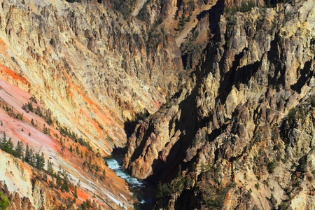 Grand Canyon Of Yellowstone National Park in Wyoming Imagens
