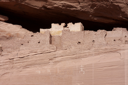 anasazi: Ancient Anasazi White House Ruins in Canyon de Celly National Park on the Navajo Reservation in Arizona in autumn