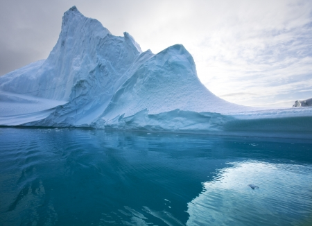 Iceberg in Scoresbysund in eastern Greenland Stock Photo