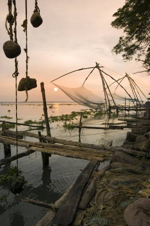 chinese fishing nets: Chinese Fishing Nets in Cochin - Kochi - in the Kerala region of southern India