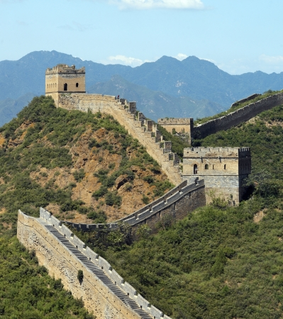 The Great Wall of China at Jinshanling near Beijing in the Peoples Republic of China  Stockfoto