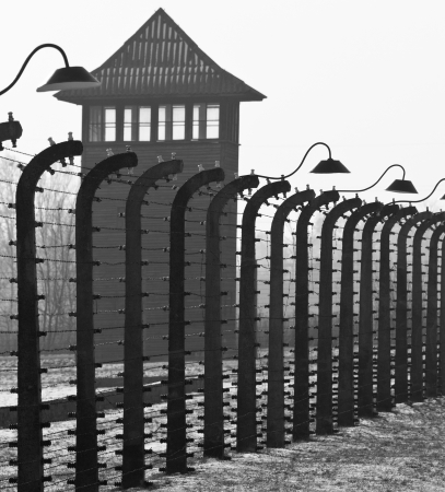 Auschwitz II-Birkenau, the extermination camp, where up to three million people were murdered by the Nazis - 2 5 million gassed, and 500,000 from disease and starvation   Redactioneel
