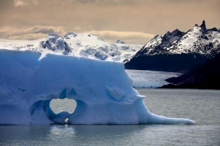 san rafael: Floating sea ice near the San Rafael Glacier in Patagonia in Southern Chile Stock Photo