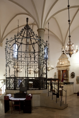 remuh: Interior of the old Remuh synagogue in Krakow, Poland