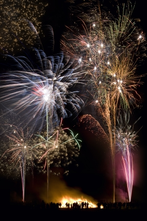 Guy Fawkes Night  also known as Bonfire Night, Fireworks Night  is an annual celebration on the evening of the 5th of November  It celebrates the foiling of the English Gunpowder Plot of the 5th of November, 1605