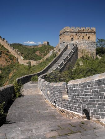 The Great Wall of China at Jinshanling near Beijing in the Peoples Republic of China  Stock Photo