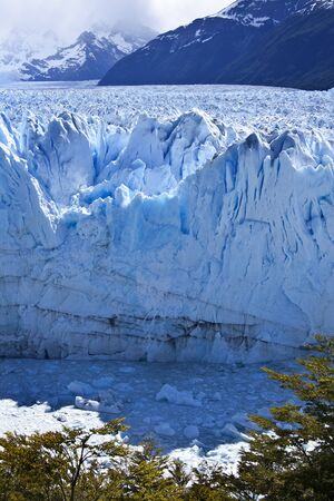 los glaciares: Perito Moreno Glacier - located in the Los Glaciares National Park in the south west of Santa Cruz province in Argentina