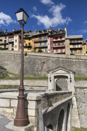 d���azur: Entrance gate to the old fortified city of Briancon in the Provence-Alpes-Cote d Azur region in southeastern France. At an altitude of 1,326 metres it is the highest city in the European Union.