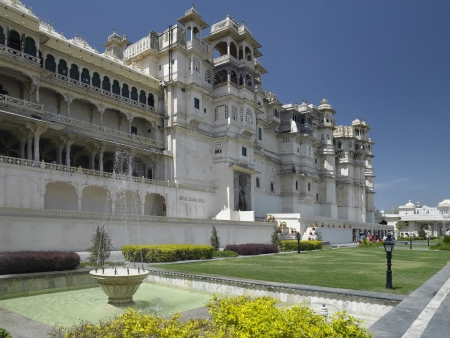 rajput: City Palace - Rajya Angan Chowk - in the city of Udaipur in Rajasthan in western India