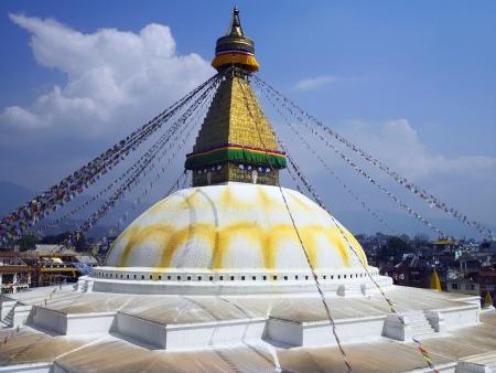 Bouddhanath or Baudhanath or the Khasa Caitya, is one of the holiest Buddhist sites in Kathmandu in Nepal  Editorial