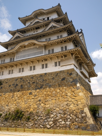 prototypical: Himeji Castle is a hilltop Japanese castle complex located in Himeji in Hyogo Prefecture  The castle is regarded as the finest surviving example of prototypical Japanese castle architecture