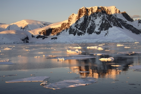 The Lamaire Channel on the Antarctic Peninsula in Antarctica  Stock Photo