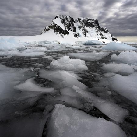 antarctic peninsula: Sea ice in the Lamaire Channel on the Antarctic Peninsula in Antarctica