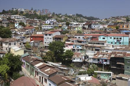 valparaiso: City of Valparaiso in central Chile in South America Stock Photo