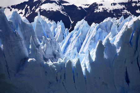 The Perito Moreno Glacier in Los Glaciares National Park in Santa Cruz Province in Patagonia in Southern Argentina  photo