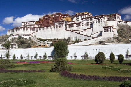 potala: Potala Palace in the city of Lhasa in Tibet  Tibet Autonomous Region of China   The Potala Palace was the chief residence of the Dalai Lama until the 14th Dalai Lama fled to Dharamsala, India, after an invasion and failed uprising in 1959