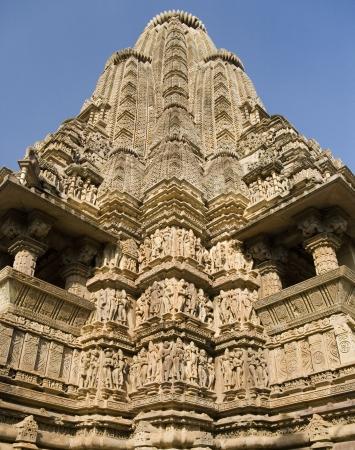 mahadev: The main Shikhara of the finely carved Kandariya Mahadev Temple in Khajuraho in Madhya Pradesh, Central India