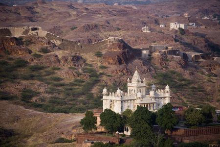 maharaja: Jaswant Thada - The Cenotaph of Maharaja Jaswant Singh the Second - Jodhpur in Rajasthan,