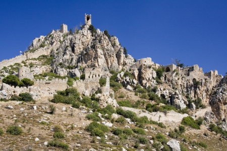 hilarion: Ruins of St  Hilarion Castle in The Turkish Republic of Northern Cyprus Dates from AD 372