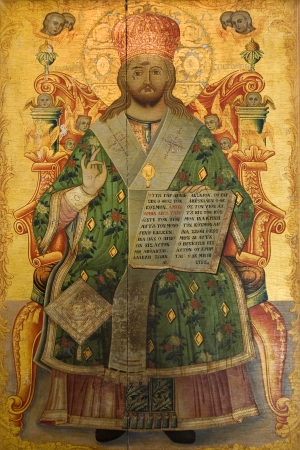 barnabas: Greek Orthodox religious icon in the Monastery of St  Barnabas in The Turkish Republic of Northern Cyprus