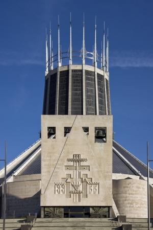 merseyside: La cattedrale cattolica romana a Liverpool Merseyside nel nord-ovest dell'Inghilterra